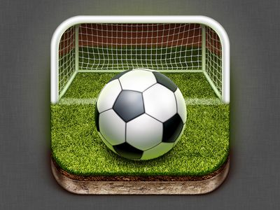 the depth is really well used in this app. also the perspective and angle, the extreme low angle with the gras gives it a cool angle to look straight into the goal. the way they used the shape of the goal and the terrain is good. the hotpot on the ball is another nice quality