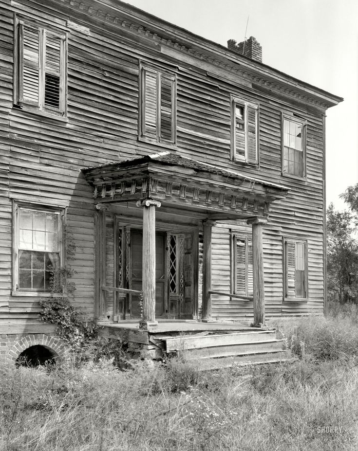 """1937. Rowan County, N.C. """"Maxwell Chambers house, Spencer vicinity. Structure dates to ca. 1800-1810."""""""