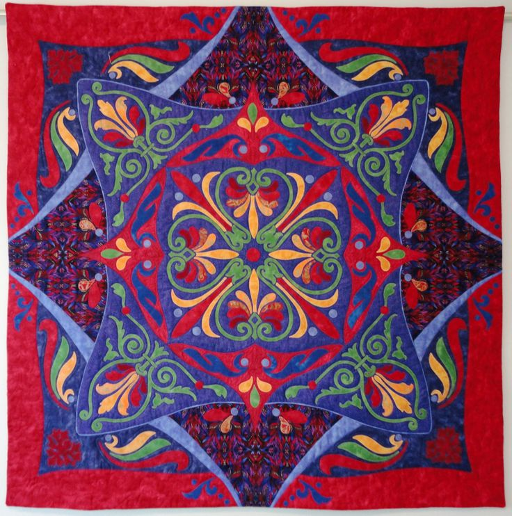 """The Blessings of Friendship"" Rhapsody quilt for my friend, about 40"" x 40"""