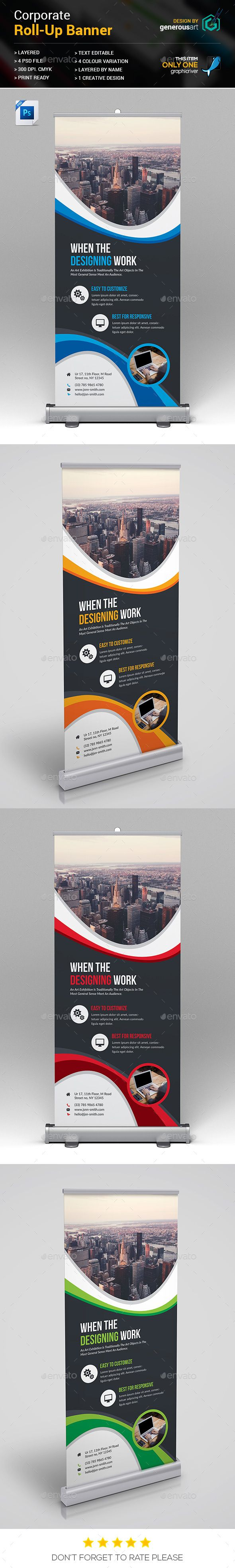 Roll-Up Banner - Stationery Print Templates