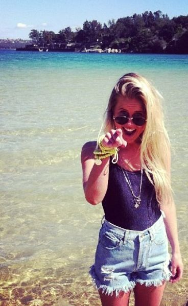 BOSTLIMITED.COM Vintage Denim and Bodysuits #vintage #denim #bodysuits #swimsuits #beach #ocean #sand #water #surf #sunglasses #blonde #summer