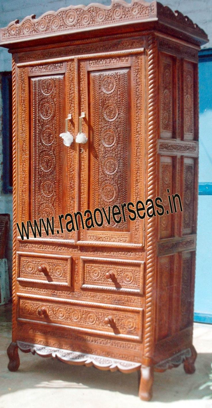 Wooden Almirah  We do proper polishing and finishing these wooden almirah to develop the look of the room where it is placed. We have various sizes.Our Wooden Almirah are durable and made up of good quality wood to ensure high durability and tear resistance.