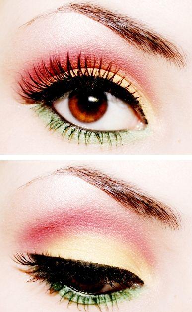 LoveMakeup Stuff, Eye Makeup, Summer Makeup, Colors, Beautiful, Hair Makeup, Parties Makeup, Green Eyeshadows, Makeup Looks