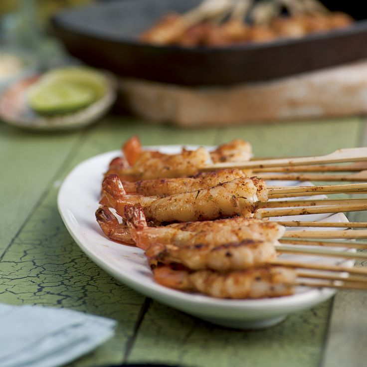 Creole Prawn Skewers with Lime Aioli