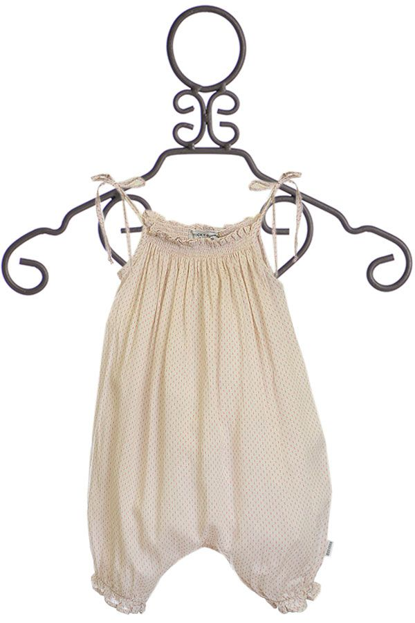 Sticky Fudge Smocked Romper for Babies (Size 3-6Mos)