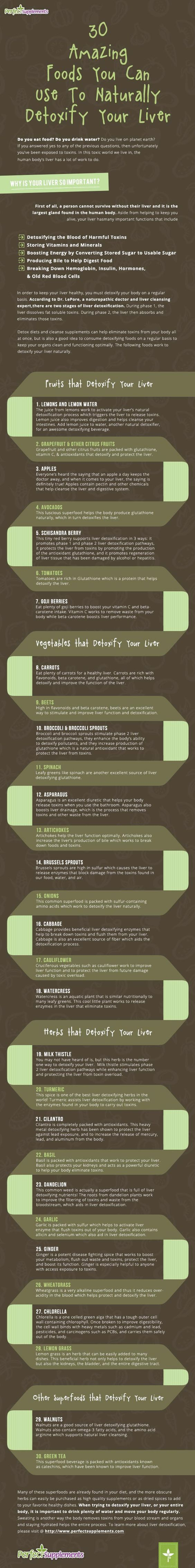 30 Foods That Naturally Detoxify Your Liver #Health #Infographic #SuperFoods: