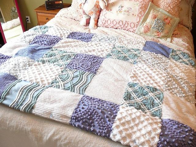 Vintage Chenille Quilt by Nesha's Vintage Niche, via Flickr