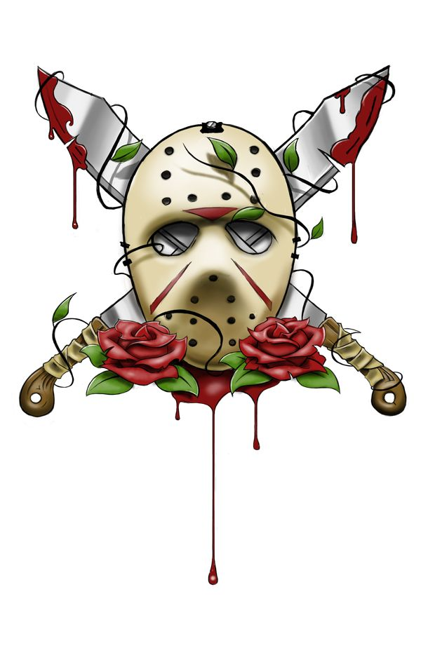 Jason Voorhees Mask Tattoo by ~artisticrender on deviantART  for some reason i like this and i normally don't like horror