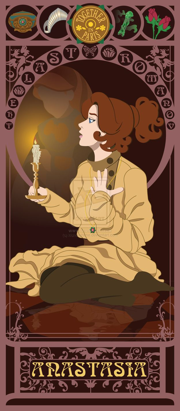 Anastasia - Anastasia | 10 Beautiful Art Nouveau Posters Of '80s And '90s Movie Heroines