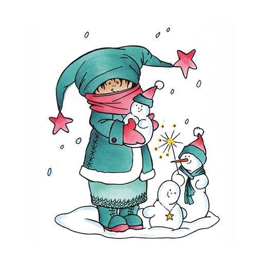 Marianne Design Clear Stamp - Making Snowmen HM9465