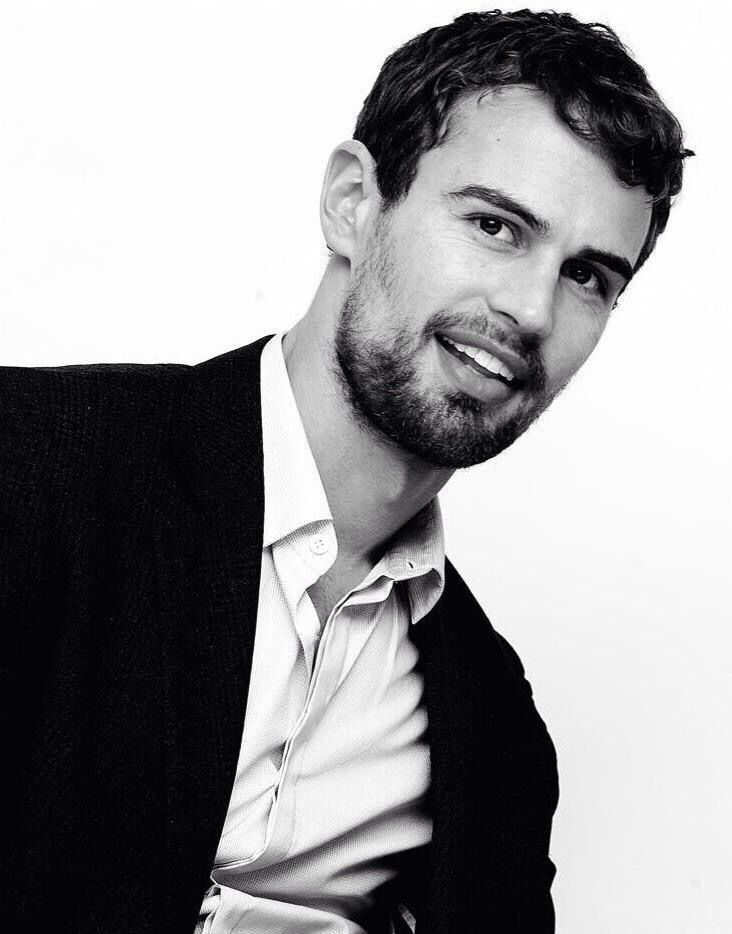 New portrait of Theo James on March 6, 2015