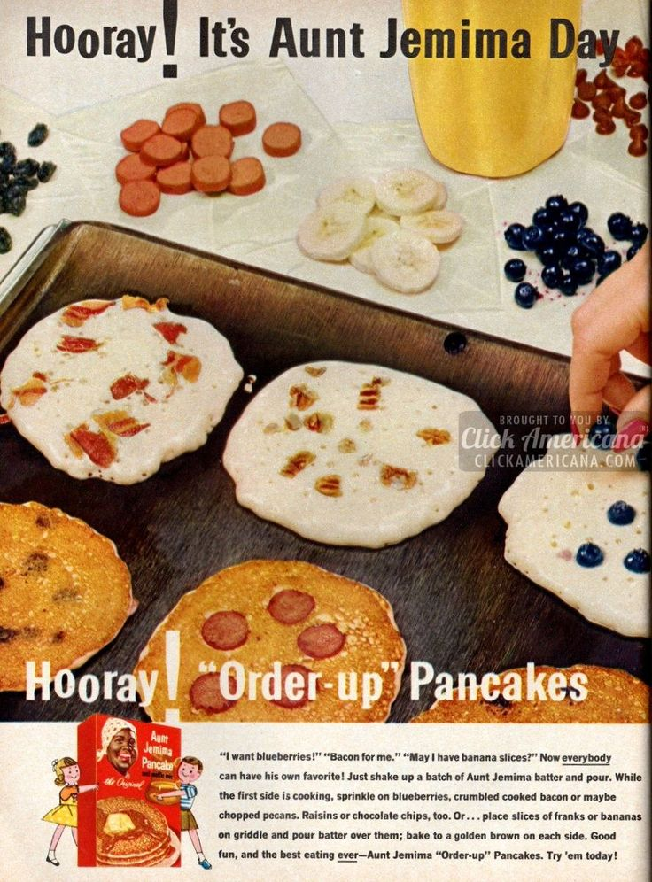 Aunt Jemima 'order-up' pancakes (1962) - Click Americana