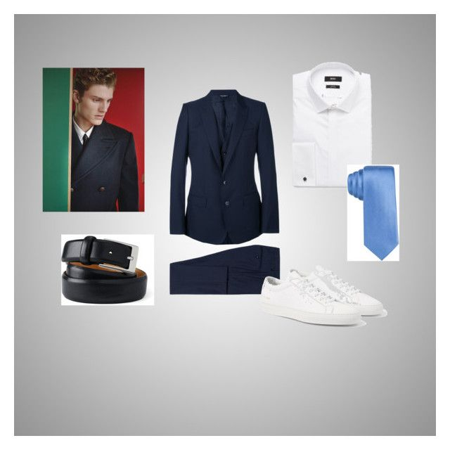 suit by olga-abdrakhmanova-rouzade on Polyvore featuring Dolce&Gabbana, Lands' End, Alfani, Louis Vuitton, men's fashion and menswear