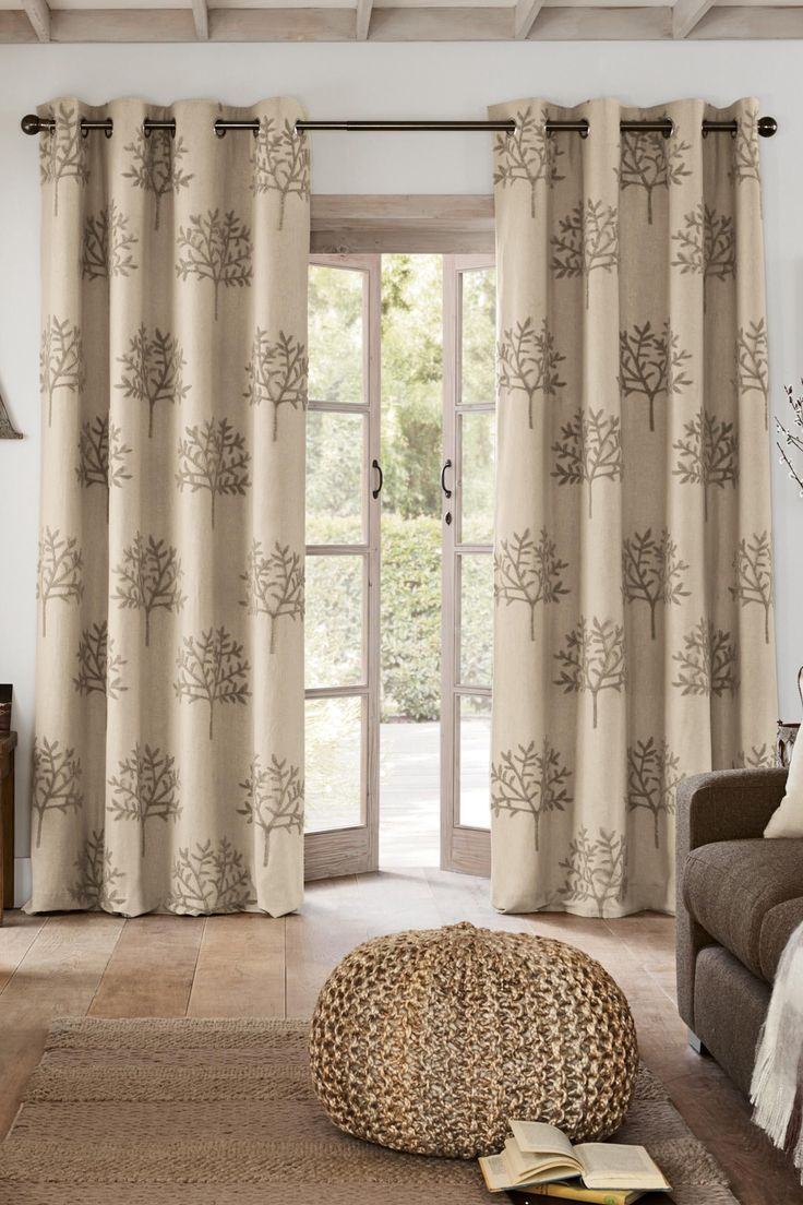 Buy Natural Boucl Embroidered Tree Eyelet Curtains From The Next UK Online Shop