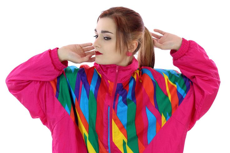 90s Windbreaker Jacket 80s Vintage Bright Kite Multi Color Art 1980s 1990s Workout Running 1980s 1990s Large L XL Xlarge Plus Size by neonthreadsdesigns on Etsy