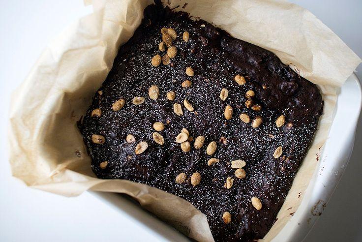 veganske brownies uten egg uten melk oppskrift