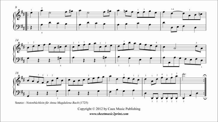 C.P.E. Bach : Marche in D Major, BWV Anhang 122 www.sheetmusic2print.com/Bach-CPE/Marche-122.aspx