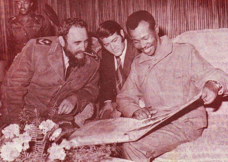 Colonel Mengistu Haile Mariam  and Fidel Castro of Cuba
