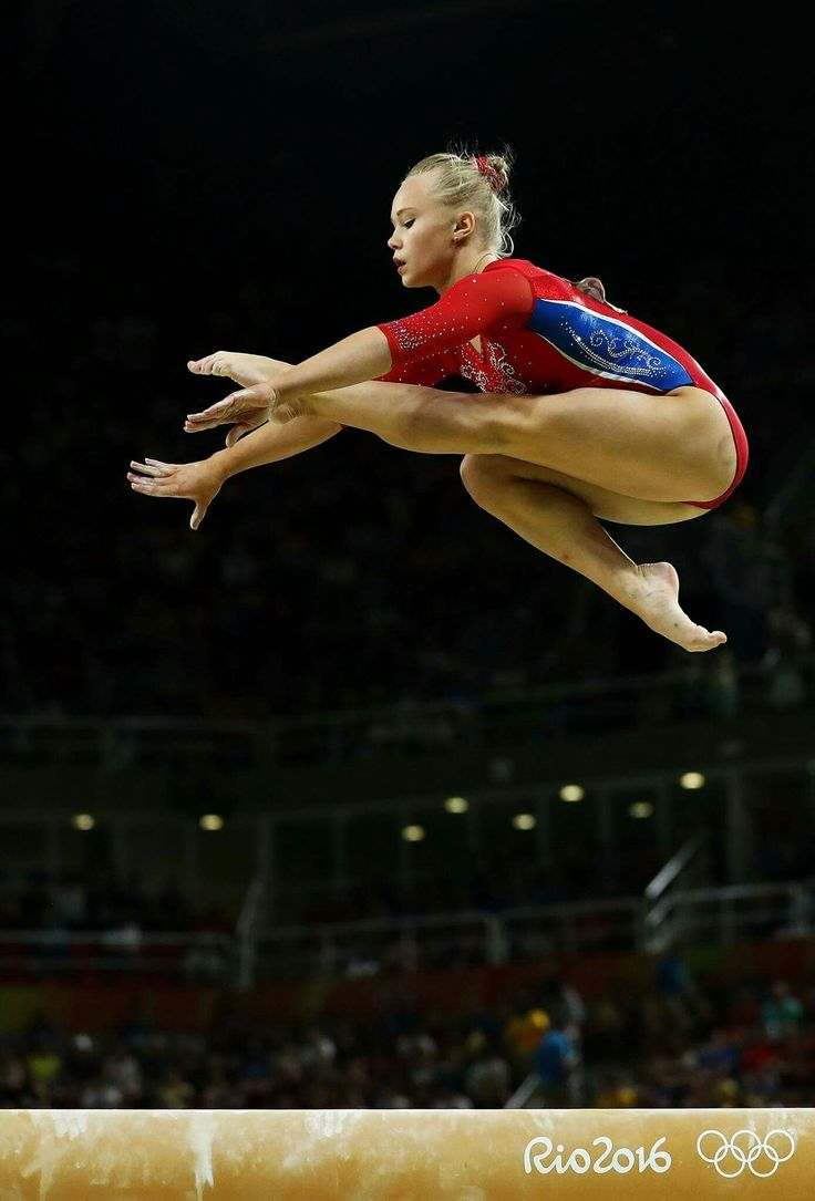 RIO DE JANEIRO, BRAZIL - AUGUST 09: Angelina Melnikova of Russia competes on the balance beam during the Artistic Gymnastics Women's Team Final on Day 4 of the Rio 2016 Olympic Games at the Rio Olympic Arena on August 9, 2016 in Rio de Janeiro, Brazil. (Photo by Lars Baron/Getty Images)