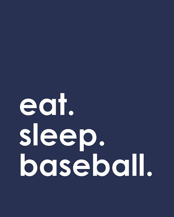 Eat. Sleep. Baseball. - print for the baseball loving/playing family - Art for Boy's room or anywhere in your home - 8x10 Print on Etsy, $15.00