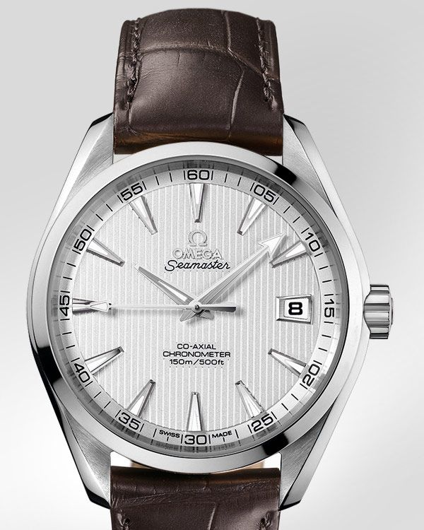 OMEGA Watches: Seamaster Aqua Terra Chronometer - Steel on leather strap - 231.13.42.21.02.001