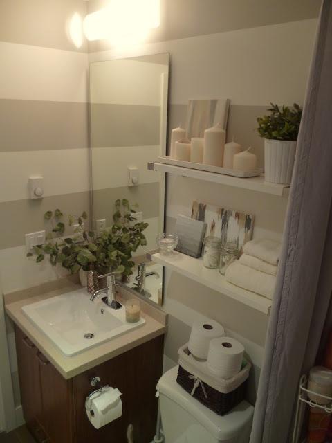 striped small bathroom