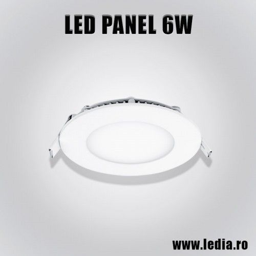 Panou Panel LED 6W eco rotund d120 mm incastrabil