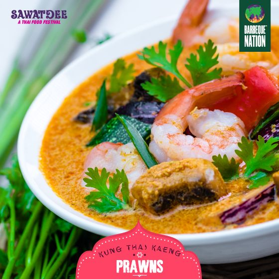Relish your love for sea food with the perfect blend of traditional Thai spices this season. Visit your nearest Bangalore, Mangalore, Mysore, Kolkata, Raipur, Guwahati, Chennai, and Coimbatore Barbeque Nation outlet till 30th August to experience Thailand on your plate. #letsthai with 'Sawatdee' – the Thai food festival! #comefeastwithus