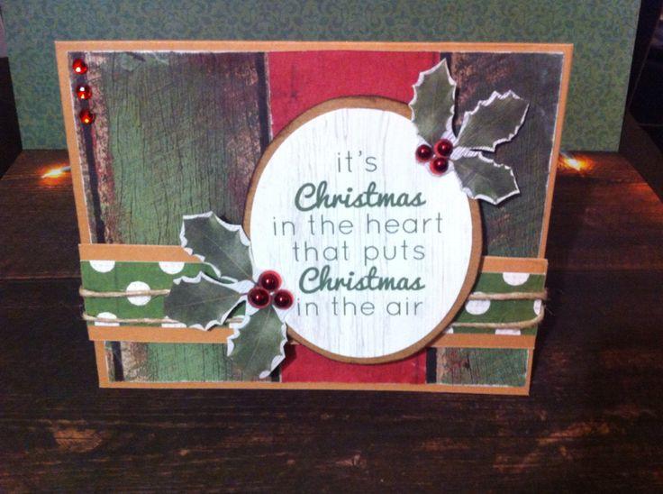 Handmade Christmas card, using Kaisercraft Base Coat Christmas collection