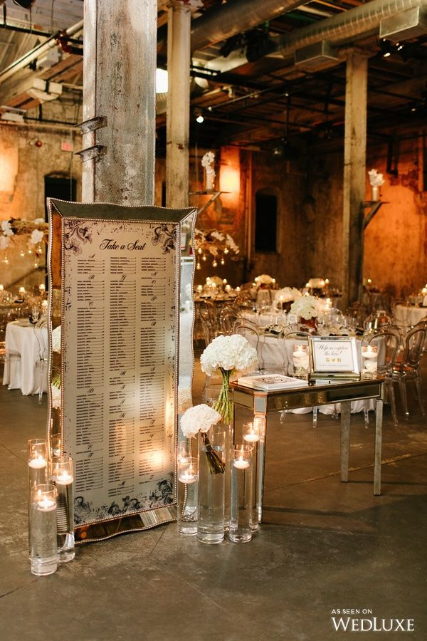 Can this wedding seating chart get any more glamorous? | Photography By: Mango…