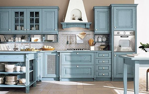 Cucina classica Monica - finitura azzurra, Arrex Le Cucine   CucinaIdea.com