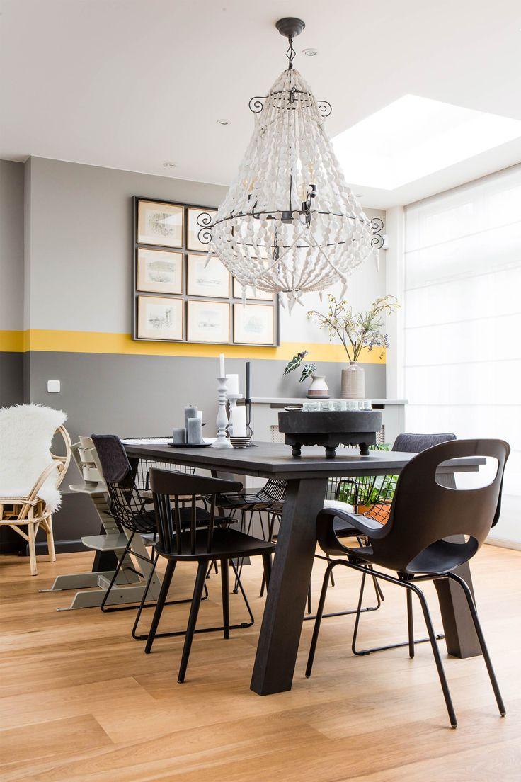 25 beste idee n over zwarte eetkamerstoelen op pinterest for Zwarte eettafel stoelen