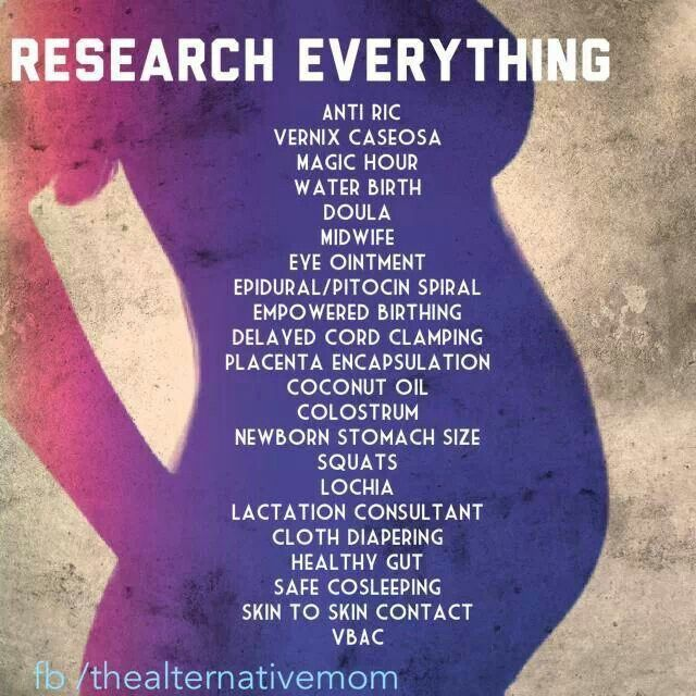 Research for your perfect birth!