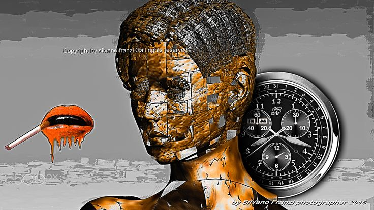 The time is sovereign (tyrant) - Metaphysician portrait 2 - 105.8 X 59.5 cm…