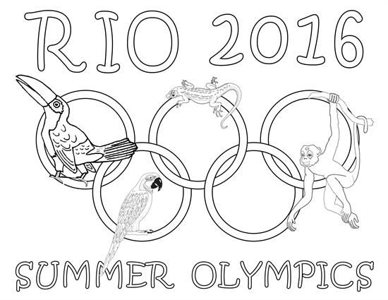8 free printable olympic coloring pages - Fun Colouring Sheets