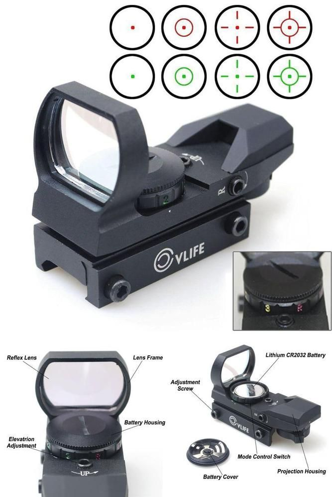 Red Dot Sight Reflex Green Holographic Scope Tactical Rifle Mount 20mm Rails  #Tactical