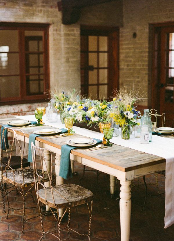 Table, chairs, and table setting