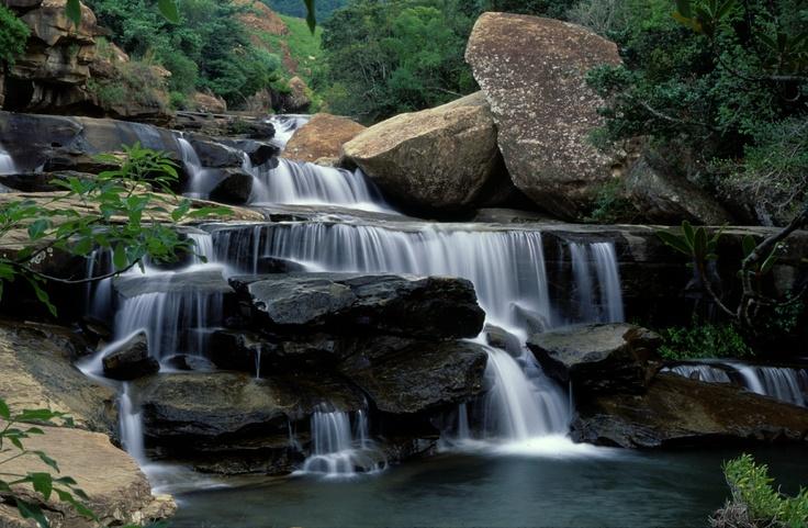 Beautiful Cascades waterfall near Thendele Campsite, Royal Natal http://www.n3gateway.com/the-n3-gateway-route/ezemvelo-kzn-wildlife-royal-natal-national-park.htm