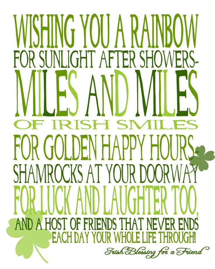 Wishing You Miles and Miles of Irish Smiles! {free printable} - The Love Nerds