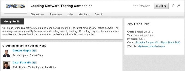 Our suite of QA services and software testing framework, are both comprehensive to span the entire Software Test Life Cycle, and flexible to meet the needs of product companies that may often need just one or two specific specialized services. More at http://www.linkedin.com/groups/Leading-Software-Testing-Companies-4374543?trk=myg_ugrp_ovr