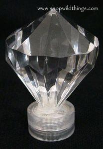 Diamond LED Light - White - Waterproof, Battery Operated