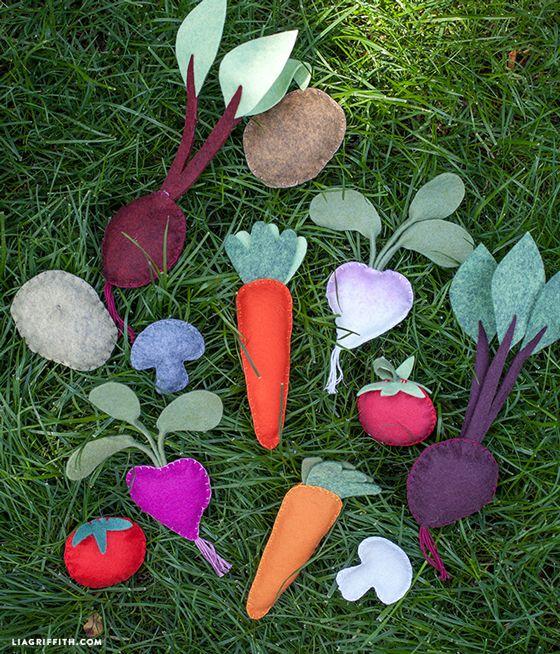 DIY: felt vegetables (beginning sewing project)