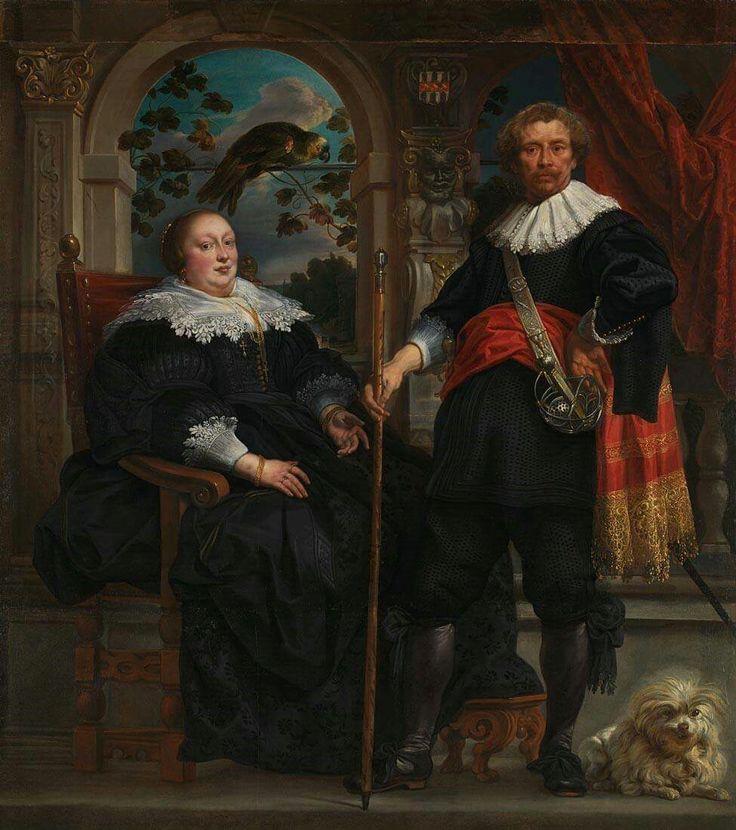 'Portrait of Govaert van Surpele (?) and his Wife' was painted by Jacob Jordaens between 1636-8.