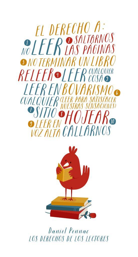 Derechos del lector de Pennac // Rights readers by Pennac