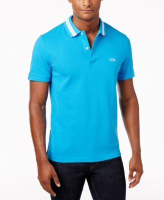 LACOSTE Lacoste Men'S Striped Collar Cotton Polo. #lacoste #cloth # polos