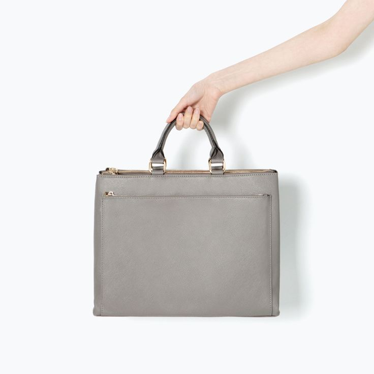 Image 3 of OFFICE CITY BAG WITH POCKET from Zara