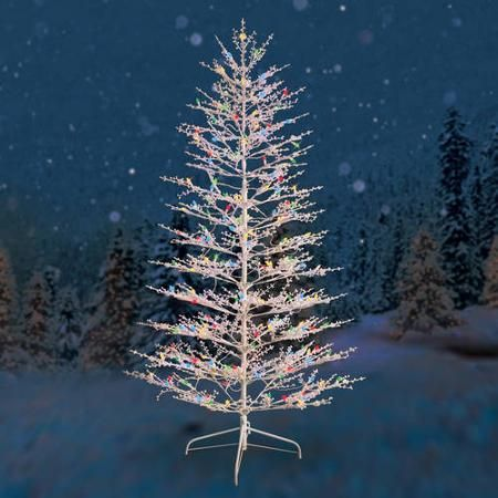 outdoor christmas trees ge pre lit 7 white winterberry artificial tree 11246