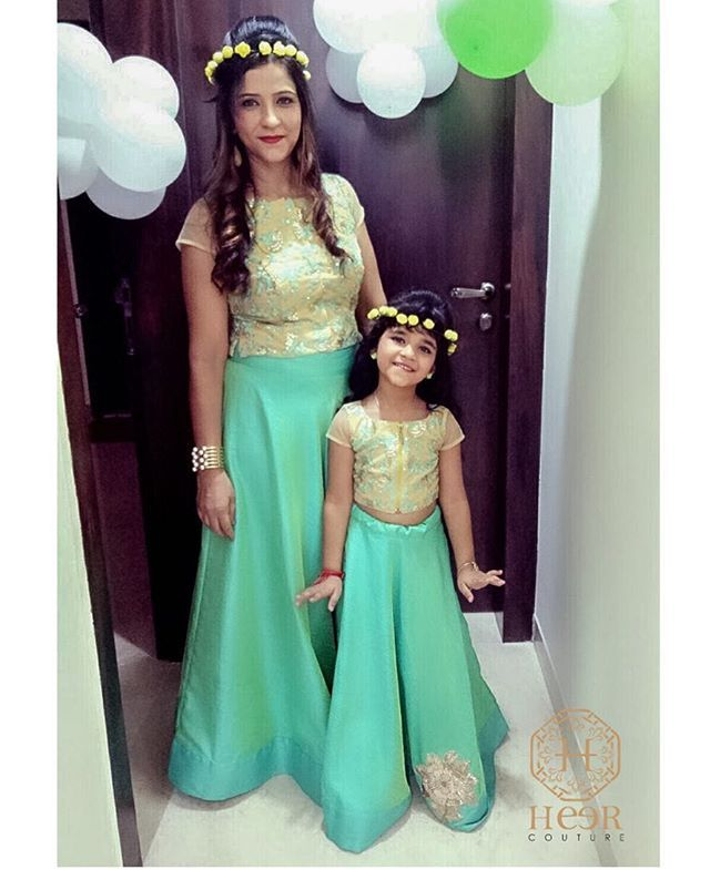 Get ready for photo-ops and special occasions with coordinating mother-daughter outfits from Heer Couture . There's nothing more adorable than wearing matching outfits with your little princess.  She wants to be just like mom, and with a cute autumn dress, she'll get to have her wish! . Meet our stylist to make matching princess dresses that make you both feel like fashion royalty . #mommy #daughter #baby #princess #love #beautiful #couture #dress #style #fashion #fashionstyle #babygirl…
