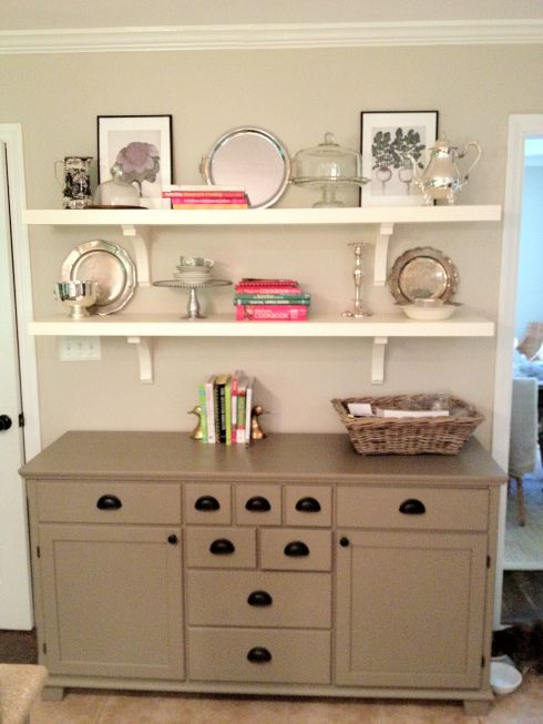 Love This White Shelves Over Dresser In Dining Room