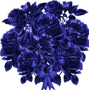 Hareketli Mavi gül buketi